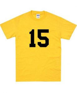 15 Number Yellow Tshirt