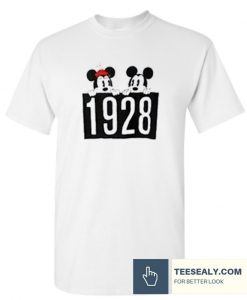 1928 Mickey and Minnie Mouse Stylish T-Shirt
