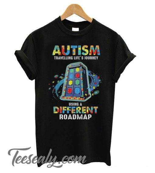 Autism Traveling life's journey using a different roadmap Stylish T shirt