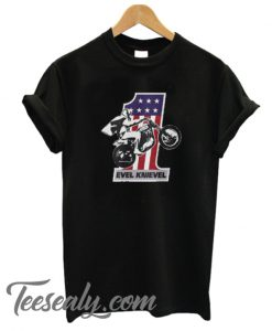 VINTAGE EVEL PROFESSIONAL MOTOCYCLE STUNT Stylish T-Shirt