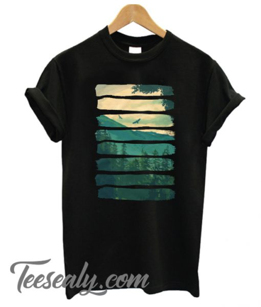 Vintage T-Shirt of Lost in the Wilds outdoor activity apparels Stylish t-shirt tee and tees Eagles in the mountain