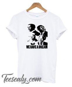 we have a dream high quality White cotton Stylish T-Shirt for women