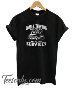 Camel Towing Black Stylish T-Shirt