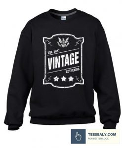 Vintage Authentic Est Stylish Sweatshirt