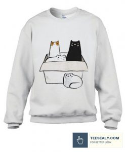 4 Cats in a Box stylish Sweatshirt