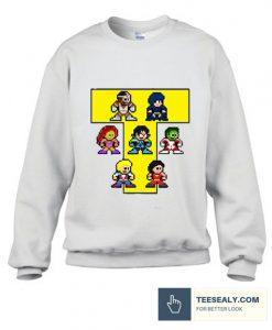 8-Bit NEW TEEN TITANS Stylish Sweatshirt