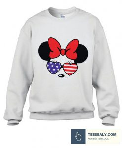 American Flag Mouse 4th Of July Stylish Sweatshirt