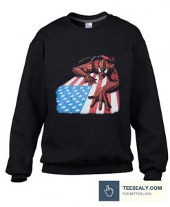 Vintage Spider-Man American Flag Stylish Sweatshirt