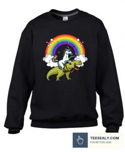 Unicorn Riding T rex Stylish Sweatshirt