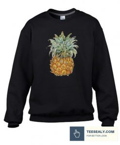 Watercolor Pineapple Stylish Sweatshirt