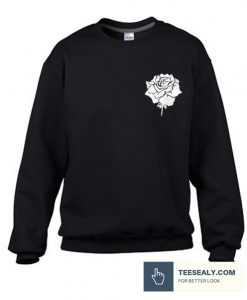 White Rose Stylish Sweatshirt