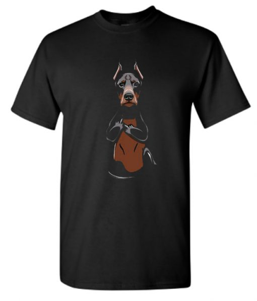 Funny Doberman Middle Finger Pocket Stylish T Shirt