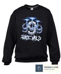 999 Club by Juice WRLD Lightning Black Stylish Sweatshirt