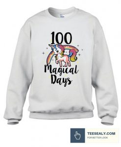 100 Days Of School Cute magical days Stylish Sweatshirt