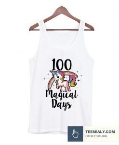 100 Days Of School Cute magical days Stylish Tanktop