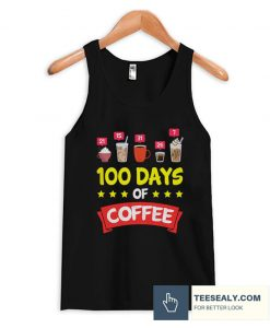 100 Days of School Coffee Stylish Tanktop