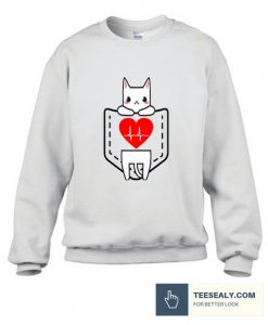 valentine cute cat Stylish Sweatshirt