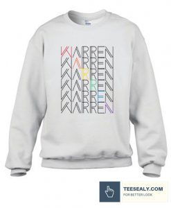warren rainbow text Sweatshirt