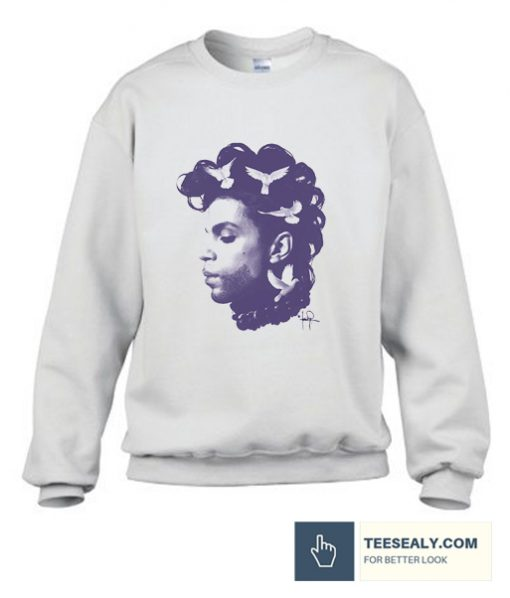 Prince Doves Purple Rain Graphic Sweatshirt