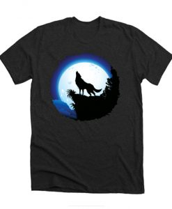 Wolf Howling at Blue Moon RZ T-Shirt
