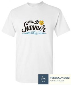 Hello Summer Happy Sun Stylish T Shirt