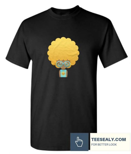 Summer afro girl wearing glasses Stylish T Shirt
